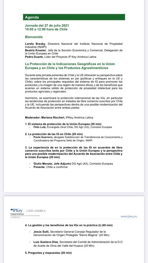 test Twitter Media - Esta tarde participamos en la Jornada de @IPKey_EU Chile sobre valorización de productos agroalimentarios a través de Indicaciones Geográficas como las DOP e IGP con @TurronesJijona @OrigenEspana @oriGInNetwork https://t.co/dXaSw5iKBW