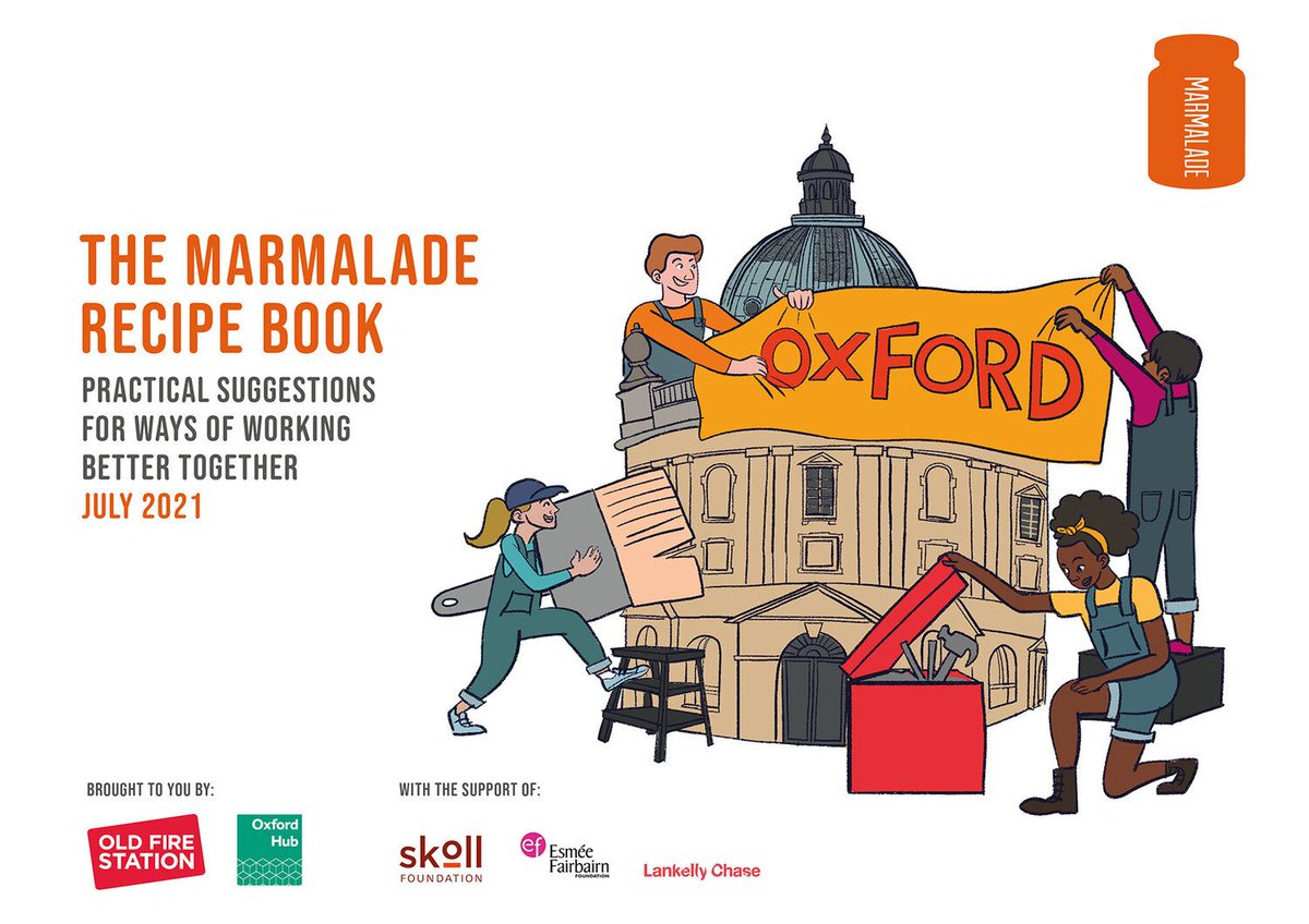 Much more than a recipe book we think! We were delighted to be part of @marmalade_io 2021. Working in partnership is crucial as we recover from the pandemic & we're looking forward to continuing conversations. Read it here 👇 https://t.co/F94veDS49F @OxfordHub @ActivePartners_