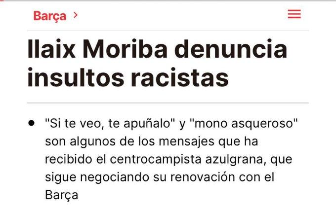 🧐 Algú ha vist la campanya mediàtica contra els aficionats racistes del Barça?