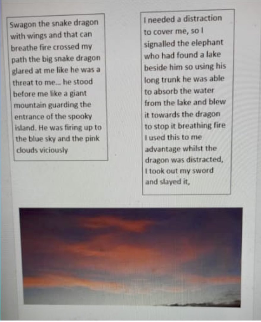 Four pages of an incredible story! Thank you, Karanveer, for entering our latest TAL challenge. 💜⭐️