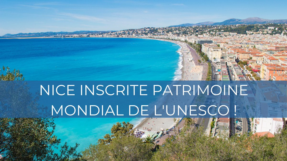 We are very happy to see Nice being added to the UNESCO world heritage sites, under the label of the 'Winter Resort Town of the Riviera'  #CotedAzurFrance #WorldHeritageSite #Nice
