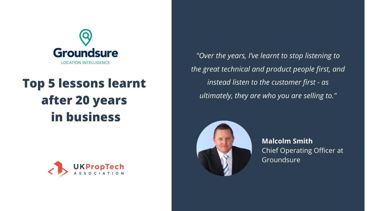 Learn from our very own @GroundsureMalc, COO at Groundsure. #PropTech #businesstips #expert
