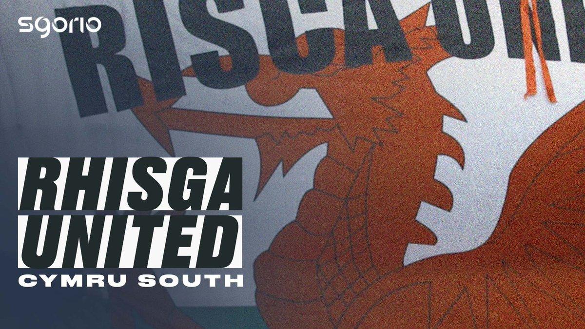 Image for the Tweet beginning: ⚫️ Rhisga United ⚪️  Camerâu Sgorio