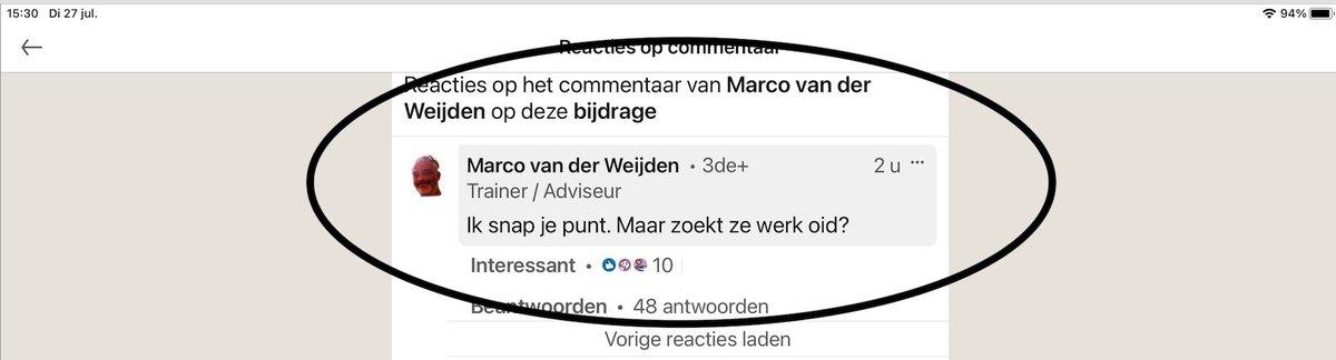 Wat een schofterige reactie op #LinkedIn van Marco van der Weijden, Consultant Eduarte bij de Iddink Groep B.V., op het bericht van de vader op LinkedIn over de mishandeling door kjupmarrkokanen.