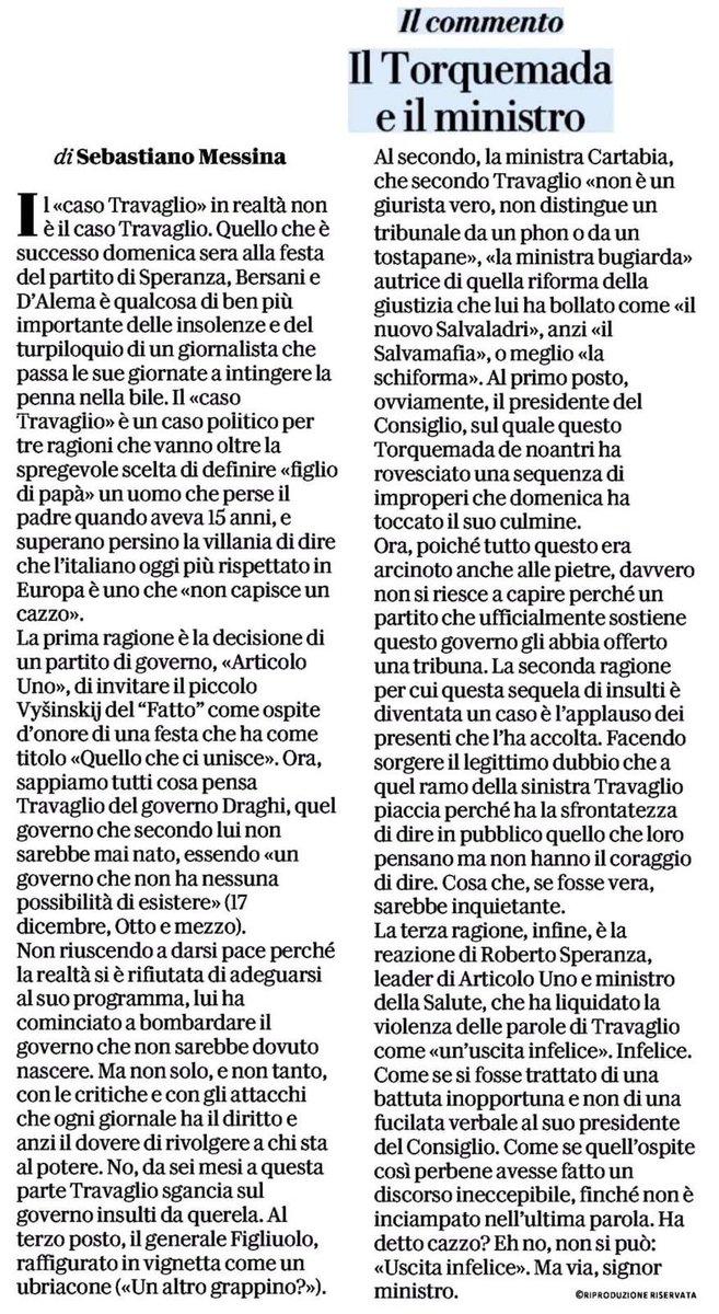 RT @alby61: Lesson number one  by @sebmes  Studia  #Travaglio  #Speranza  #Telese https://t.co/TrWtX6Pg8t https://t.co/PpaGR3yohM