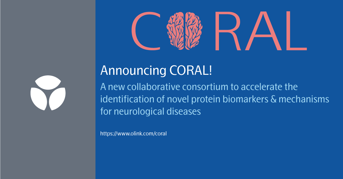 CORAL is a new collaborative community of scientists that work on diverse #neurological conditions studying blood and cerebrospinal fluid (CSF) on the Olink Proteomics platform to identify novel #biomarkers and biological mechanisms. Press release: https://t.co/RkGCj7hD4m https://t.co/a0223uOfmN