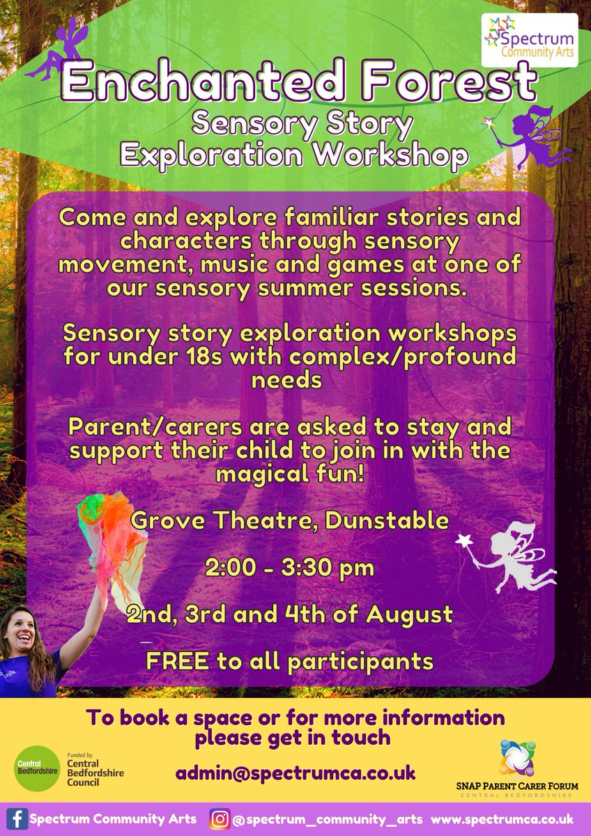 RT @HowardH_8: Still spaces available on the FREE #SEND workshops next week @GroveTheatre Dunstable with Spectrum Community Arts. Book your space via https://t.co/eBRWWKuEbk @teamBEDS @letstalkcentral @snappcf @CBSENDIASS @AutismBeds  #activebedfordshire