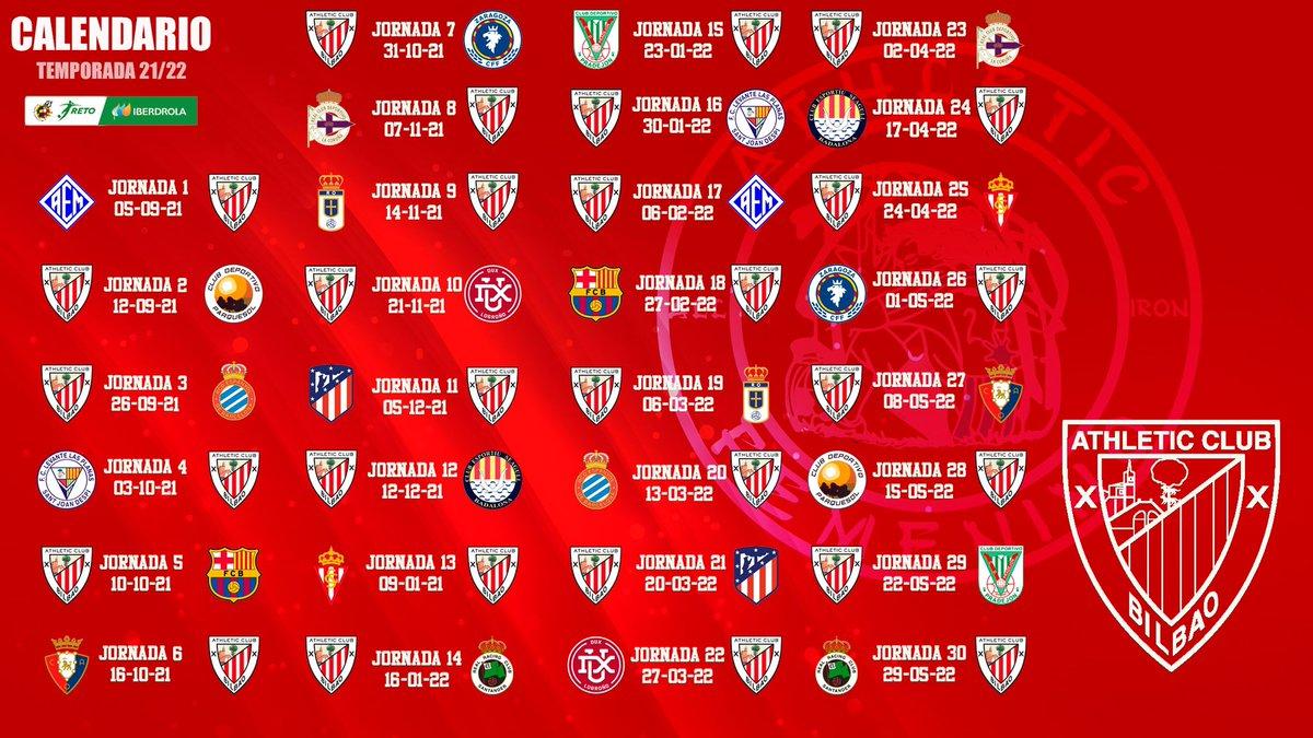 🗓 Calendarios de las categorías inferiores del  2021/22. Cortesía de _allironfem