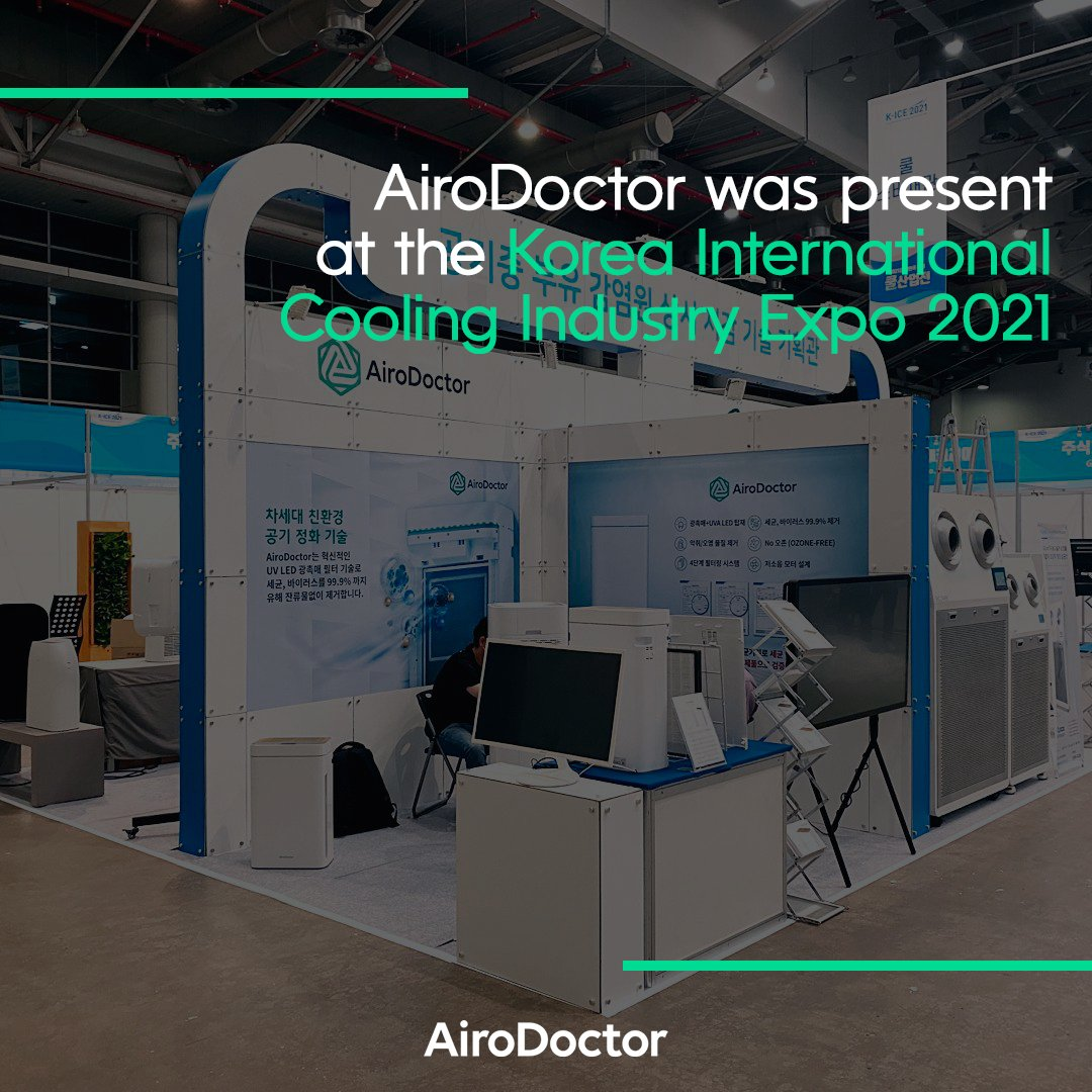 Recently, AiroDoctor was present at the Korea International Cooling Industry Expo 2021, presenting once again the latest innovation in air purification, with excellent performance in the annihilation of viruses and bacteria.   Learn more: https://t.co/yx2vKYCkYa https://t.co/RadVR1FpA5