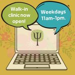 Image for the Tweet beginning: Our new virtual walk-in clinic