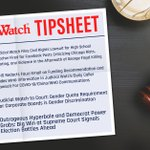 "Image for the Tweet beginning: NEW Judicial Watch Tipsheet: ""Judicial"