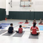 Image for the Tweet beginning: Our students did yoga today