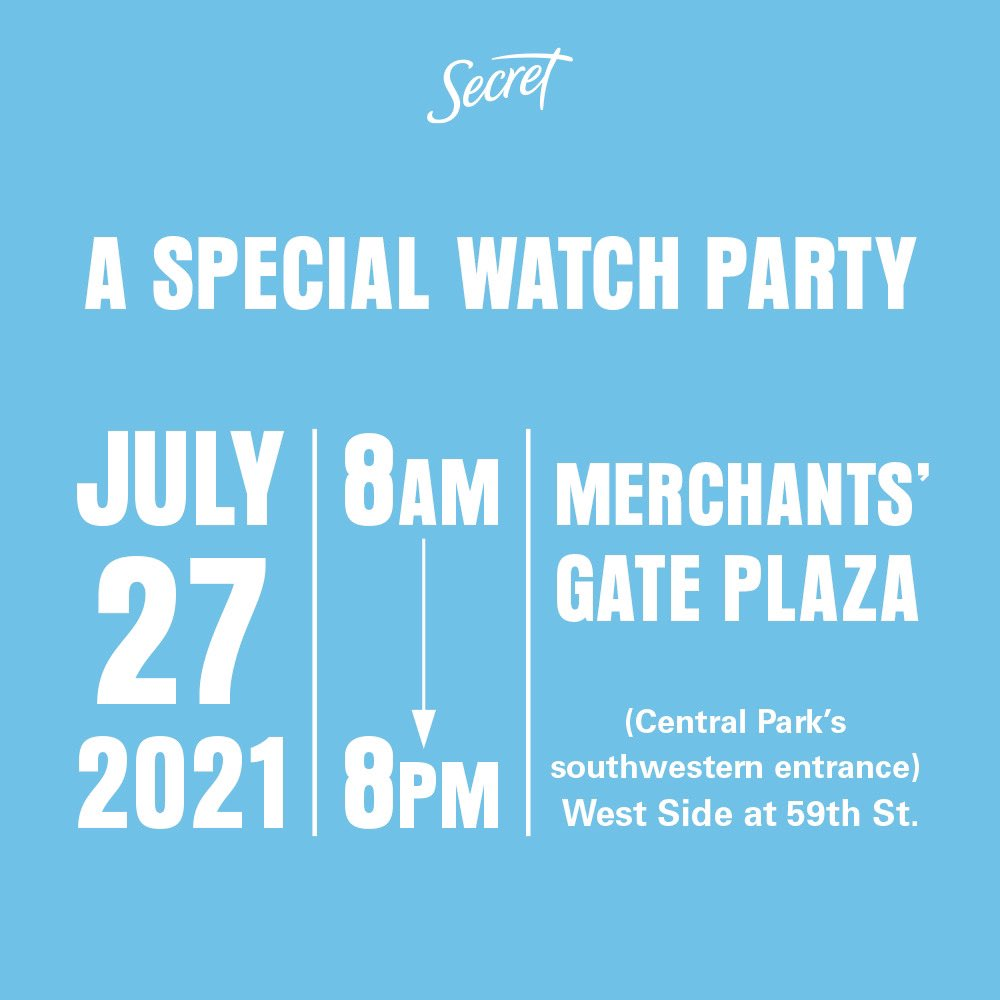 Happening today! Come together with @SecretDeodorant for a Women Sporting Events watch party. Details below https://t.co/0zoPpBCYbL