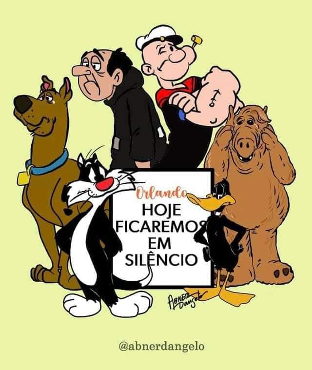 Scooby, Patolino, Popeye, Frajola... todos em silêncio pelo grande Orlando Drummond