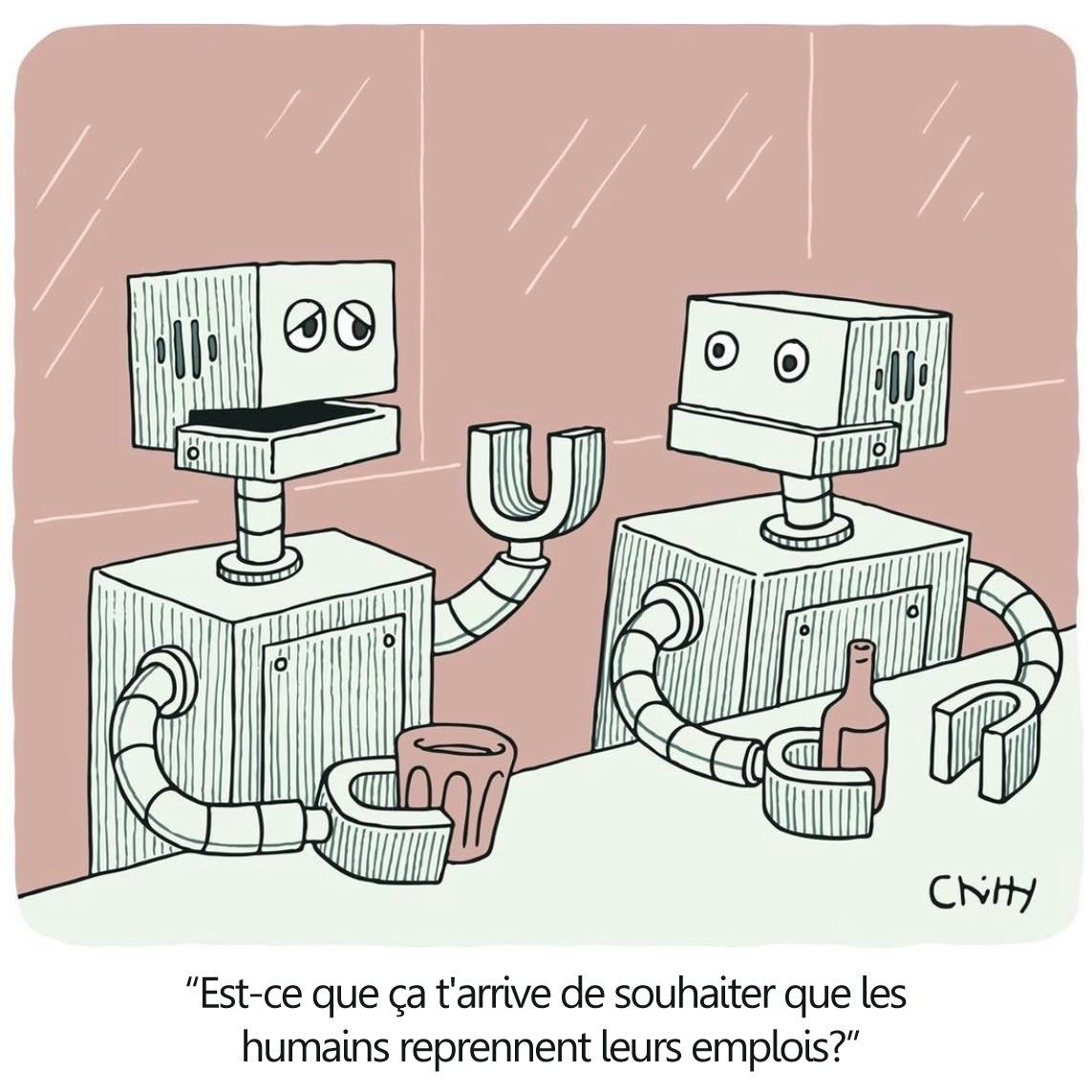"""Je soutiens évidemment votre position pro-RU car elle est rationnelle et qu'on n'aura pas le choix.  Mais l'humain ne sera pas simplement """"déplacé"""". Il est bien question de le REMPLACER par un robot autonome (cf AGI) plus efficace que lui.  #revenudebase #robots #ia #disruption"""