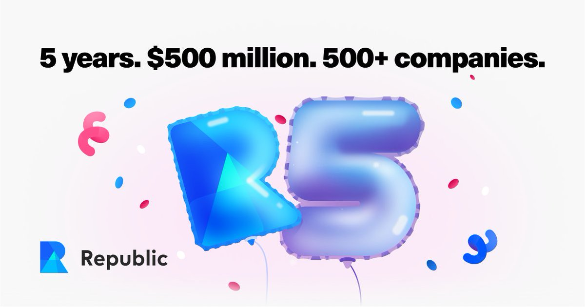 Happy birthday to our partner, @joinrepublic! Here's to another year of growth 🎉 #RepublicIsFive