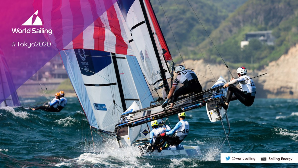 that HEIGHT! Rockets or sailboats? 🤔 🚀/⛵️  📸: @SailingEnergy @worldsailing   @TeamUSA @NBCOlympics #tokyo2020 #olympics #sailing #tokyojapan