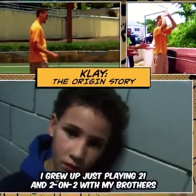 Image for the Tweet beginning: Klay Thompson spent his childhood