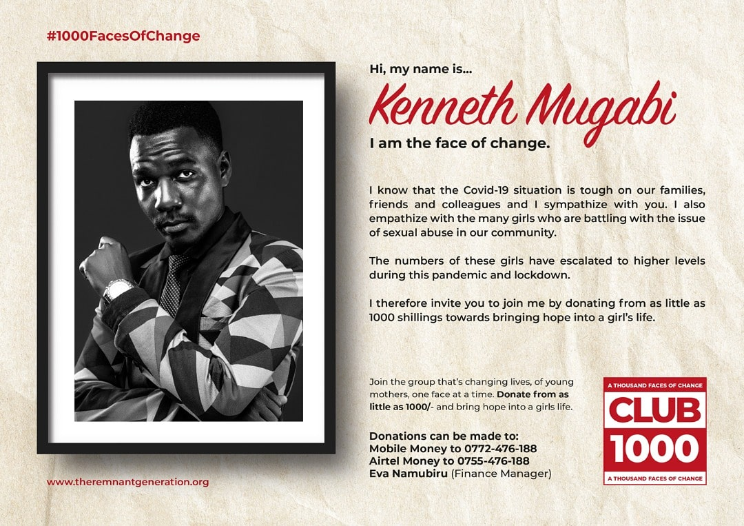 Donate today via @CentenaryBank; Account number 3710600220 or @MTN Mobile Money to 0772-476-188 or @Airtel Money on 0755-476-188; or visit www.theremnantgeneration.org to join the cause.   #1000FacesOfChange