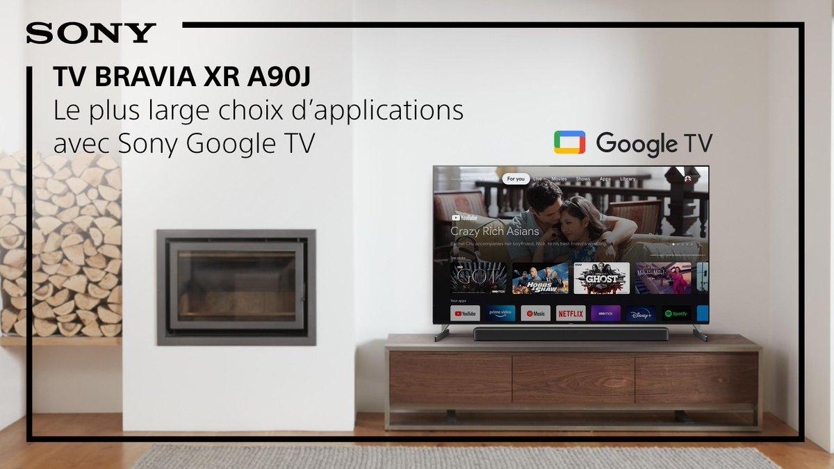 Équipé de Google TV, le TV BRAVIA XR A90J offre une expérience personnalisée et intuitive ainsi que le plus large choix d'applications. Découvrez les avantages d'un TV équipé de Google TV : https://t.co/21amcmwbcQ https://t.co/OrVQgKXOXE