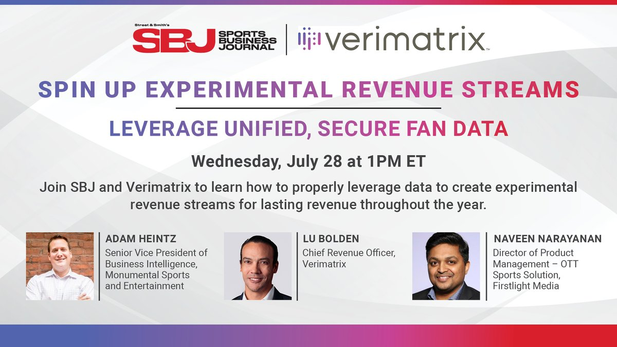 Today at 1pm: Join @MSE's @Heintz34, SVP, Business Intelligence, for insight on our innovative work on immersive fan experiences and recurring revenue models. #RaiseTheGame | #BeMonumental