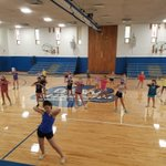 Image for the Tweet beginning: Cheerleading camp at OLW yesterday.