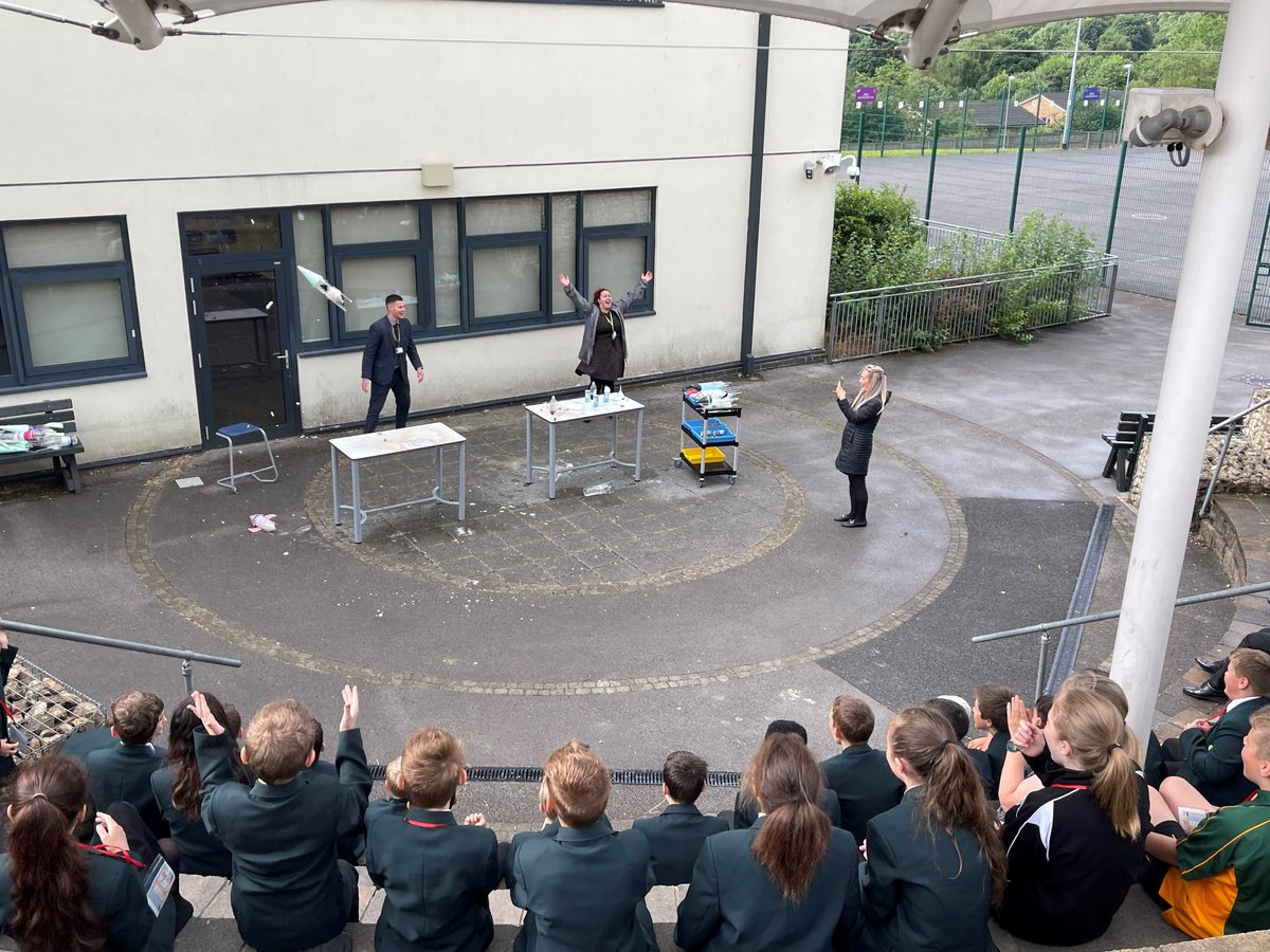 What better way to finish our exciting Summer School than with a home made rocket launch! This week our new Year 7's have been superstars! 🚀🌟#Summerschool2021 @educationgovuk