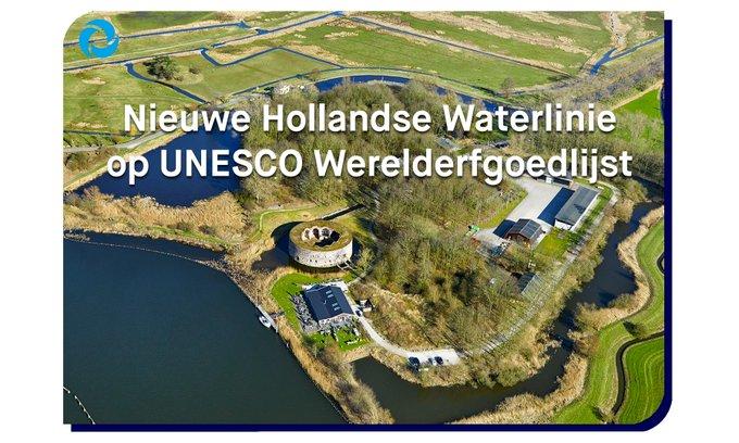 De @Waterlinie_NHW is #werelderfgoed! 🎂 @waterschapagv is eigenaar van een aantal sluizen en vestingwerken, die onderdeel van ons watersysteem zijn, en zorgt mede voor het voortbestaan van deze unieke Linie voor toekomstige generaties  👉https://t.co/gw5kxGgIVA  📍Fort Uitermeer