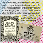 Image for the Tweet beginning: Ben-Day dots, unlike the #halftone