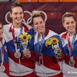 Image for the Tweet beginning: Российские спортсмены завоевали три серебряные