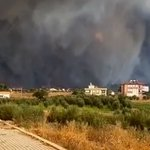 Image for the Tweet beginning: При крупном пожаре в Анталье
