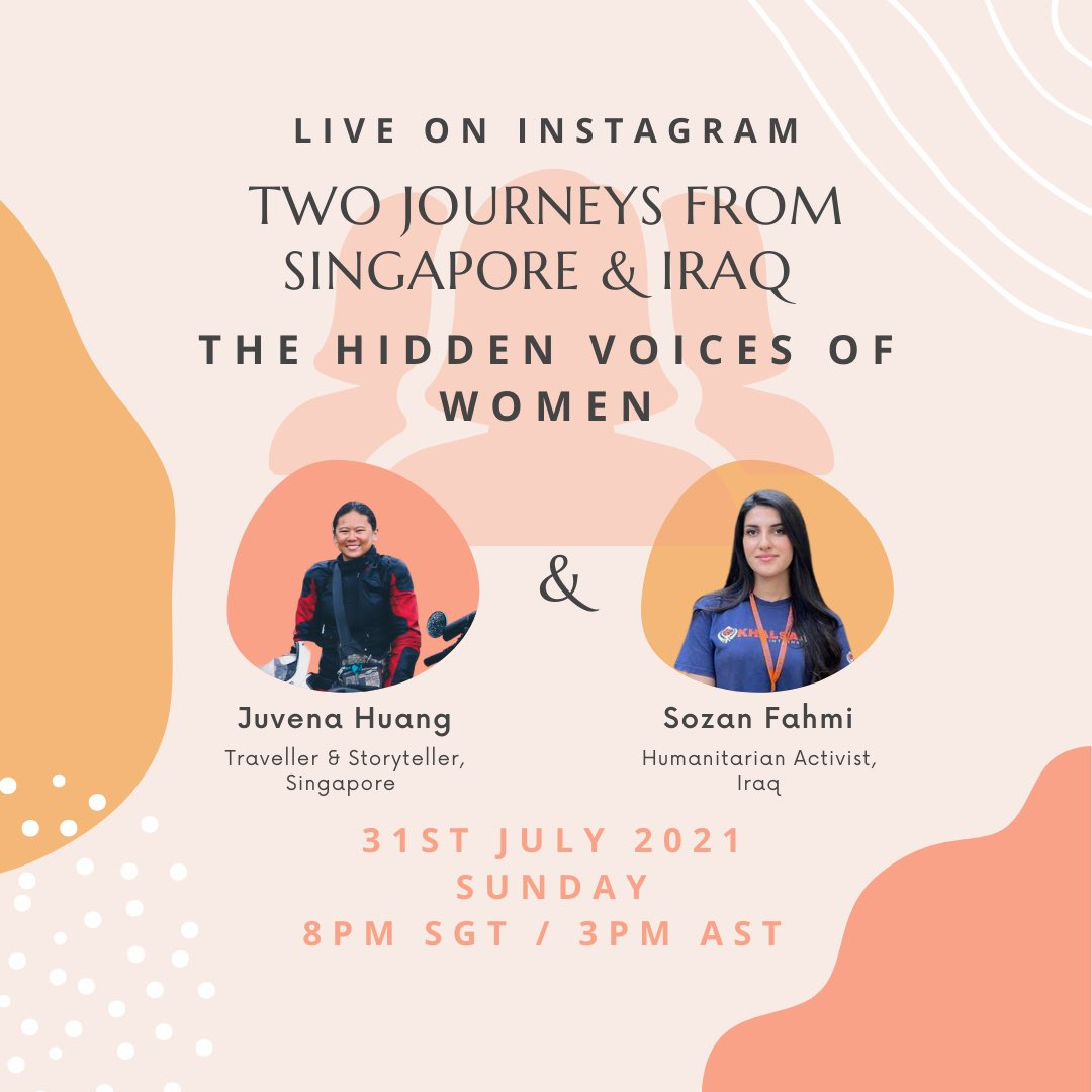Going live with Juvena who is a motorcycle traveller, as a solo female traveller, she was able to enter the female spaces of some of the most conservative societies and listen to the women's sentiments and aspirations. To join the live click: instagram.com/p/CR3-LLRjHMk/…