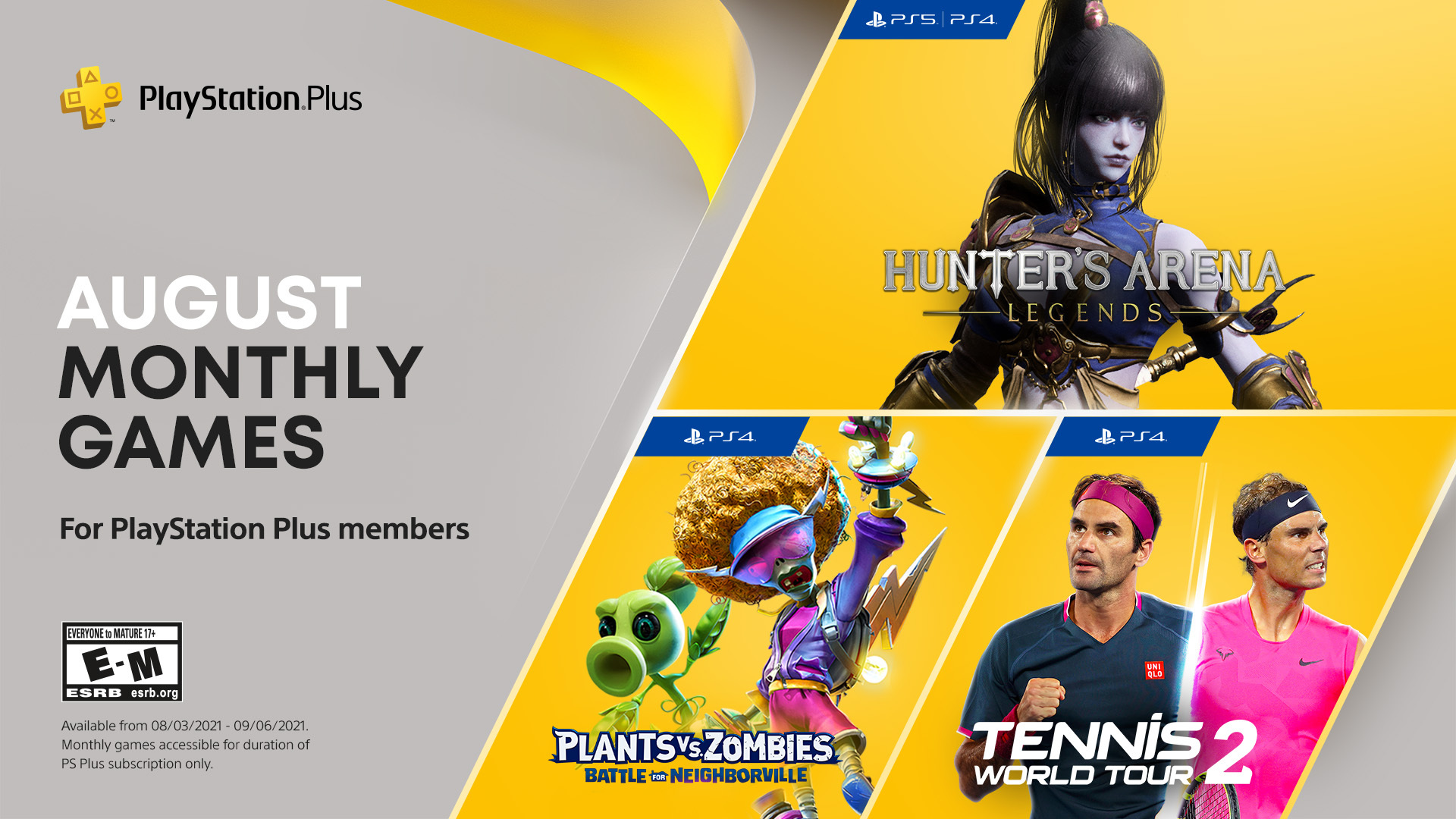 PS Plus Free Games August 2021