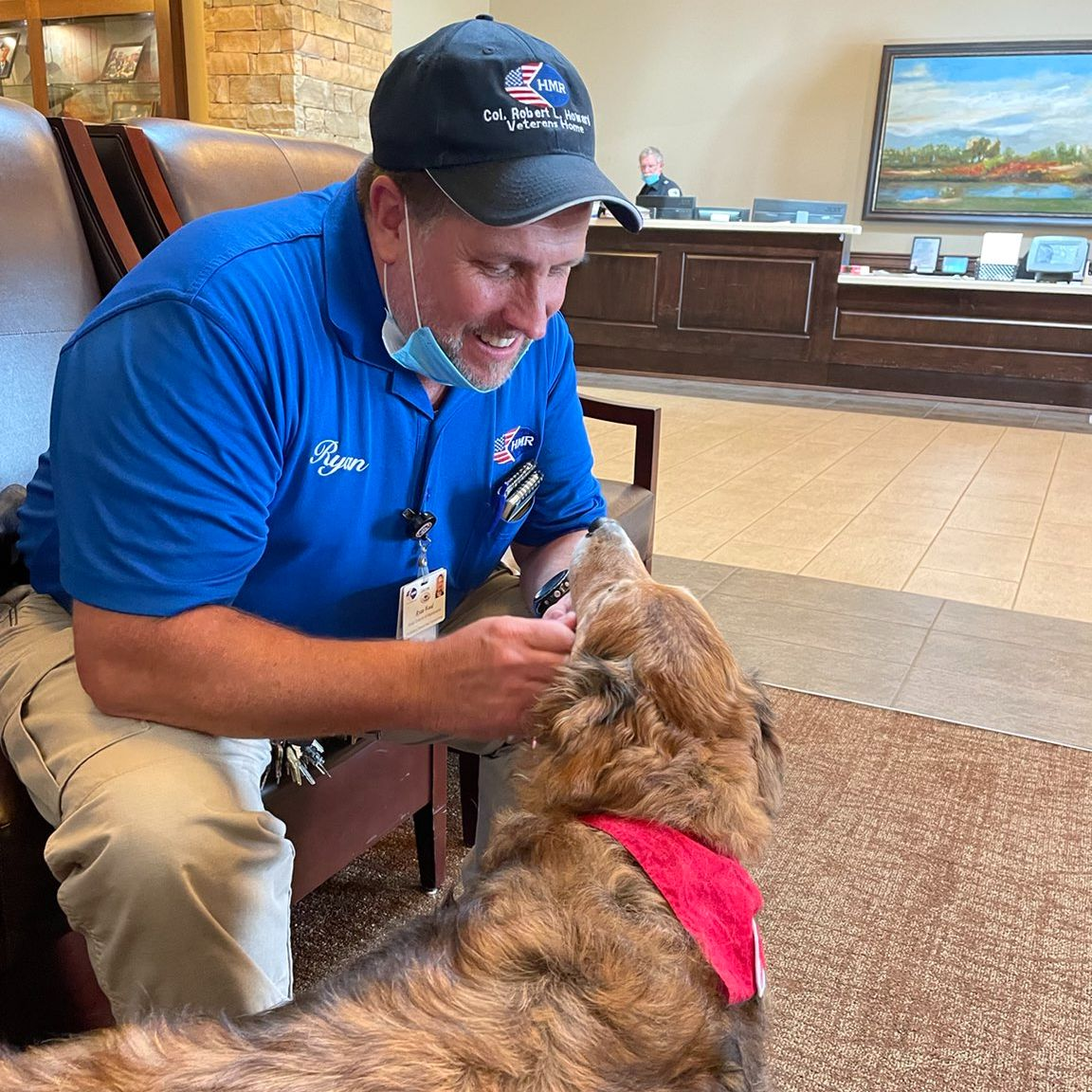 The pups 🐶 are back to bring smiles and comfort to our veterans In Alabama. ⬇️