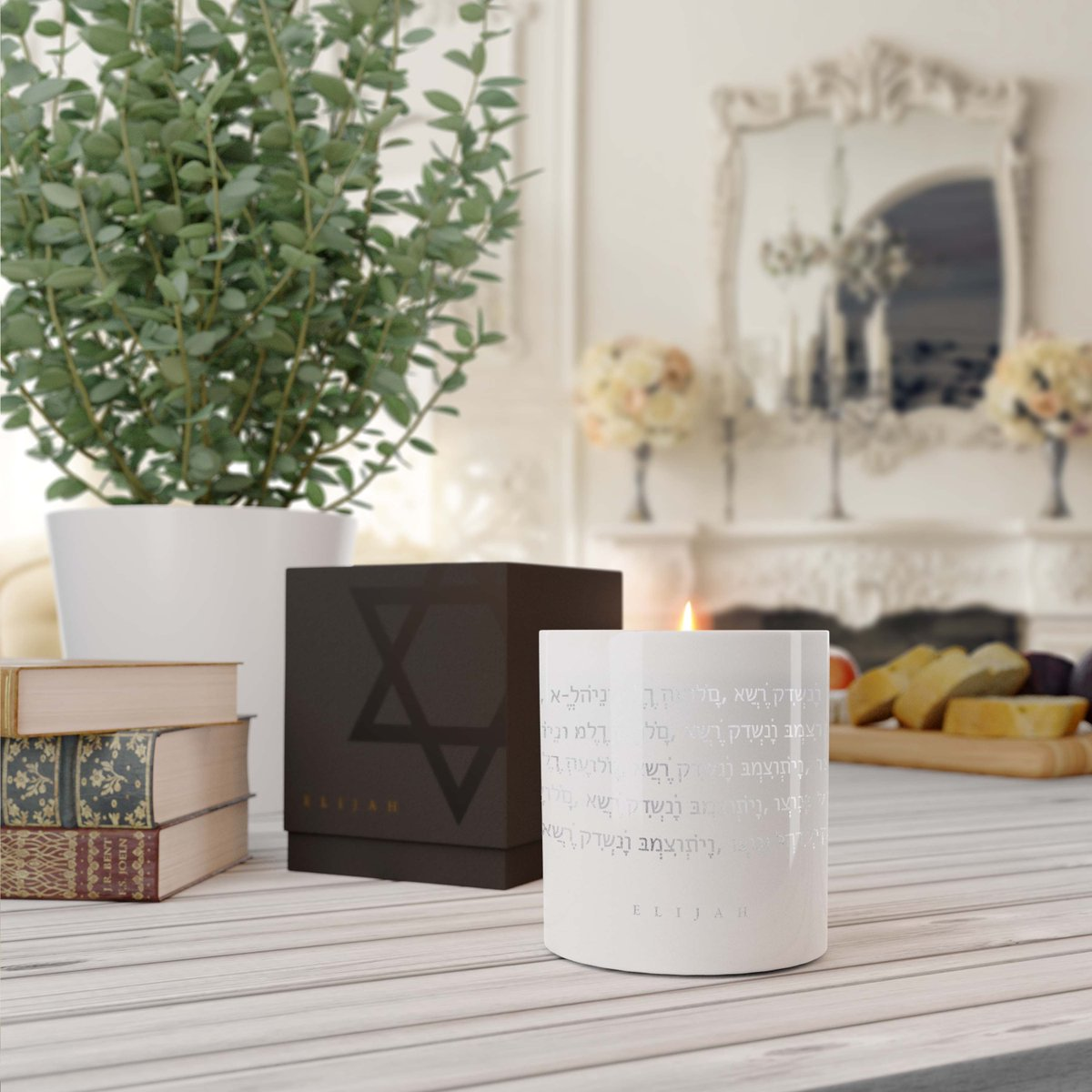Meaningful home decor that inspires peace and aligns with your values. Order your Elijah Candle today✨