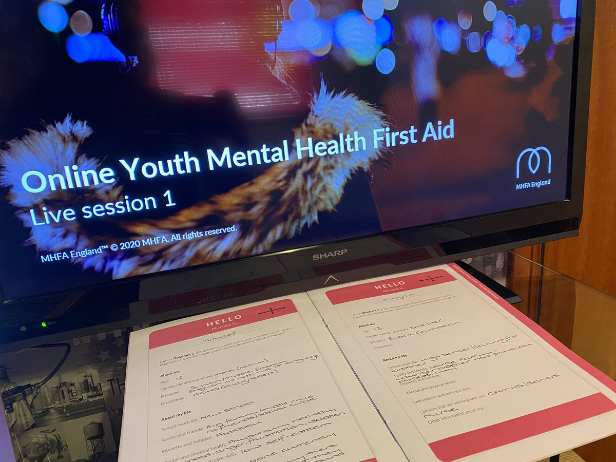 RT @CONNECT_MHealth: Live Session 1 of the Youth MHFA WITH @GetBerksActive is off! #mentalhealth #mentalhealthtraining #mhfa @MHFAEngland