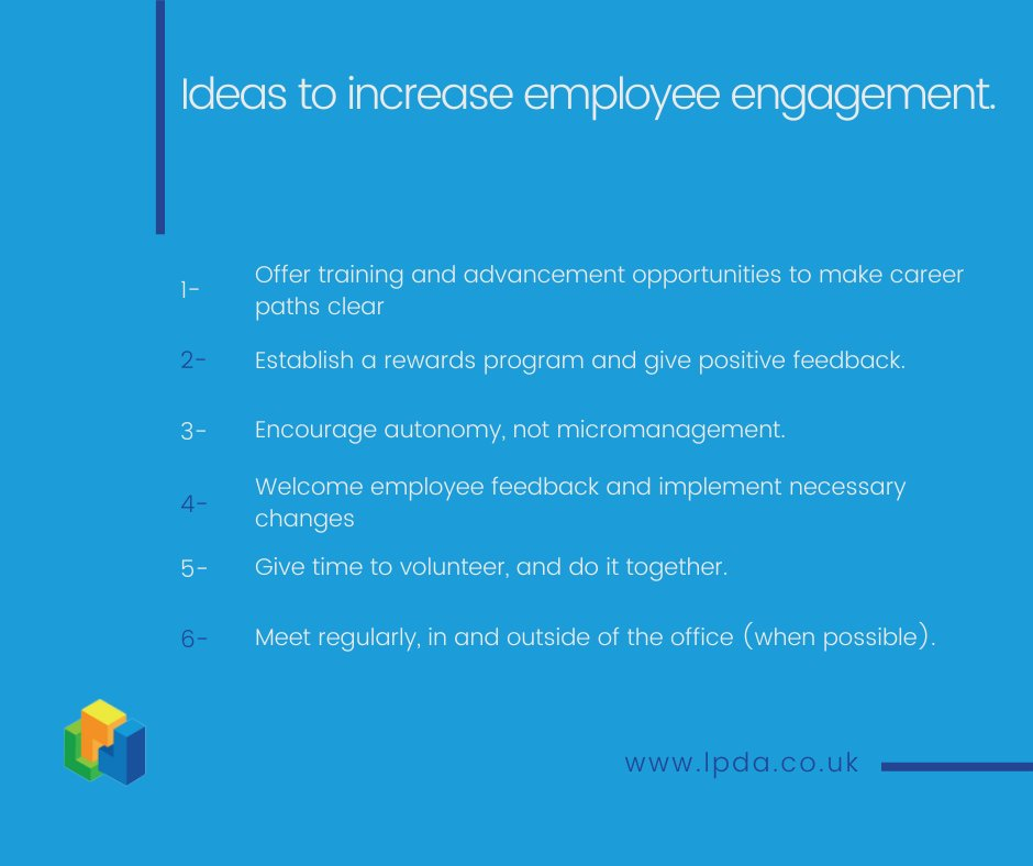 If engagement in your organisation is lacking, bettering it from the inside out is one of the keys to success.  The following 6 engagement ideas are simple things you can try within your organisation to help create an ideal work environment.
