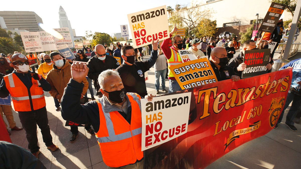 Our union is supporting Amazon workers across the country as they organize for justice at work. This campaign is led by our members, who live and work alongside Amazon workers and know the difference a union makes. https://t.co/poH5PNKk4N