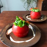 丸ごとメロンのケーキを見て良いこと思いついた!山本ゆりさんのトマトのレシピ!