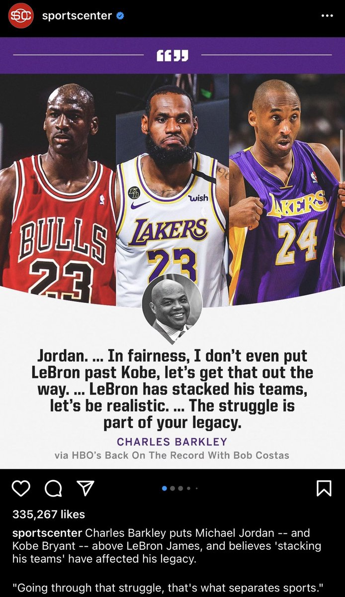 RT @_xLakers: Richard Jefferson responds to Charles Barkley's bizarre comments about LeBron's legacy. https://t.co/My7InxIMjB