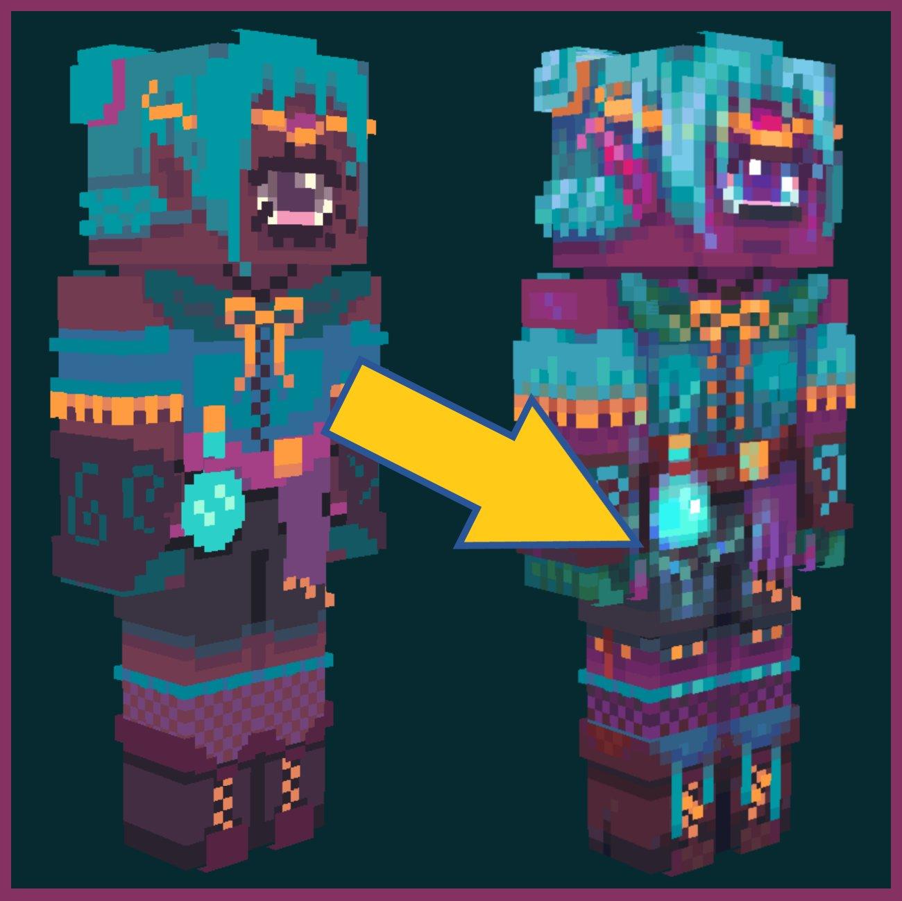 Elfie Collab // HD Reshade Minecraft Skin
