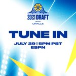 Image for the Tweet beginning: #DubNation, Draft Day has arrived.  🕔