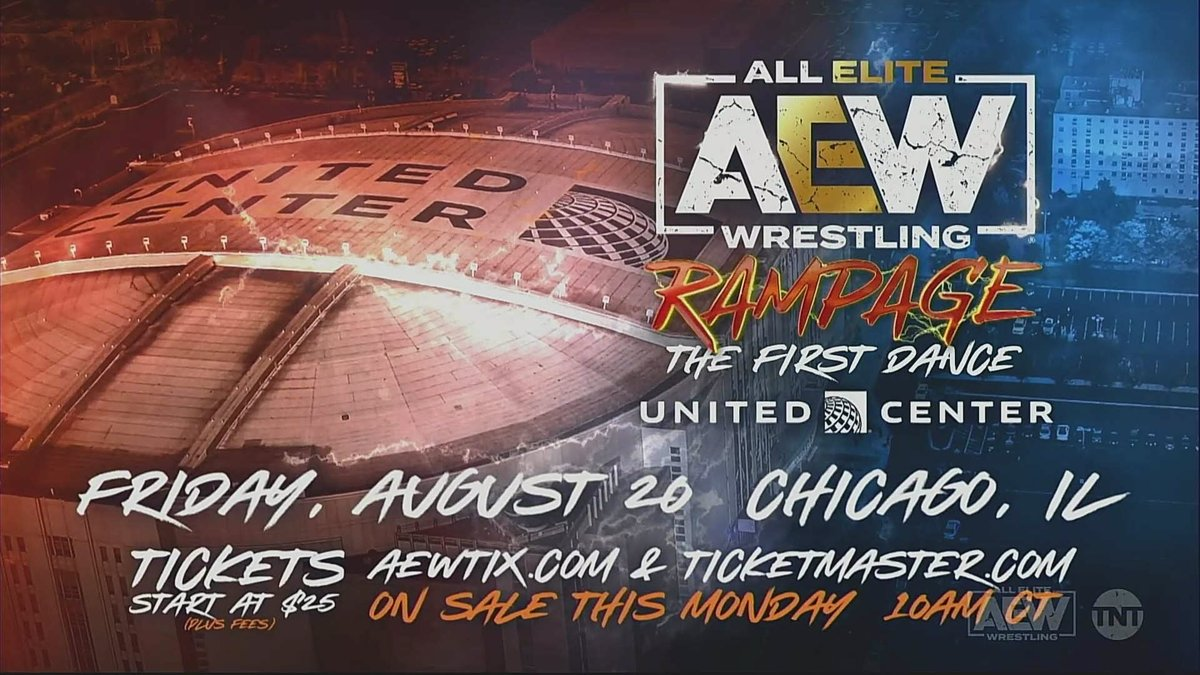 RT @WONF4W: AEW announces Rampage event for United Center on August 20 https://t.co/d9JCmCuZI2 https://t.co/QbFlOtSMwS