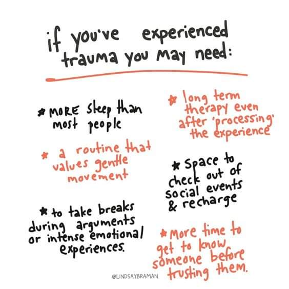 If you've experienced #trauma you may need these things. 💜💙 https://t.co/2NJpJPCjh2