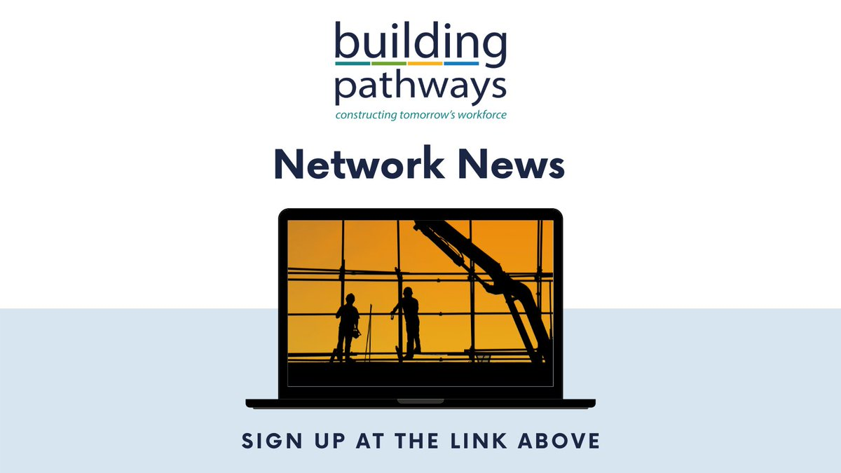 Building Pathways is growing and evolving, so we've launched a brand new bulletin to keep our network informed of what we're doing and opportunities for collaboration. Read our first edition and sign up for the next one https://t.co/DAWMnMYfdk #Network #ConstructionUK #Training