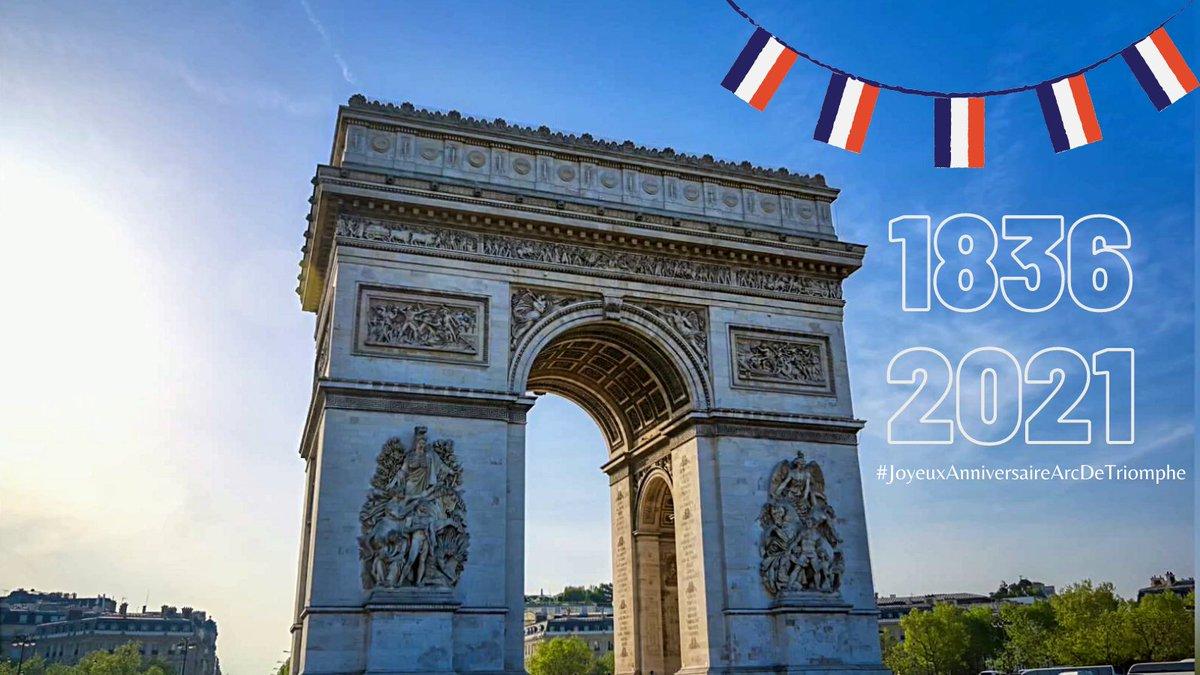 Joyeux anniversaire l'@ArcDeTriomphe ! 🎉