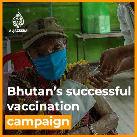 Bhutan hat in sieben Tagen 90% seiner erwachsenen Bevölkerung geimpft. Die Bevölkerung macht 0,8 Mio aus, ca. 140 T sind 0-19 Jahre alt. Geimpft wurden also knapp 600 Tausend. In sieben Tagen (!), nachdem sie die Wartezeit zum Aufbau einer Impfinfrastruktur genutzt haben. Respekt