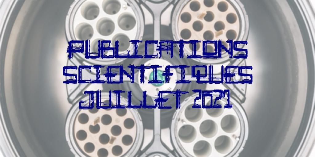 Liste des publications scientifiques – Juillet 2021 https://t.co/5ExmUWItFZ