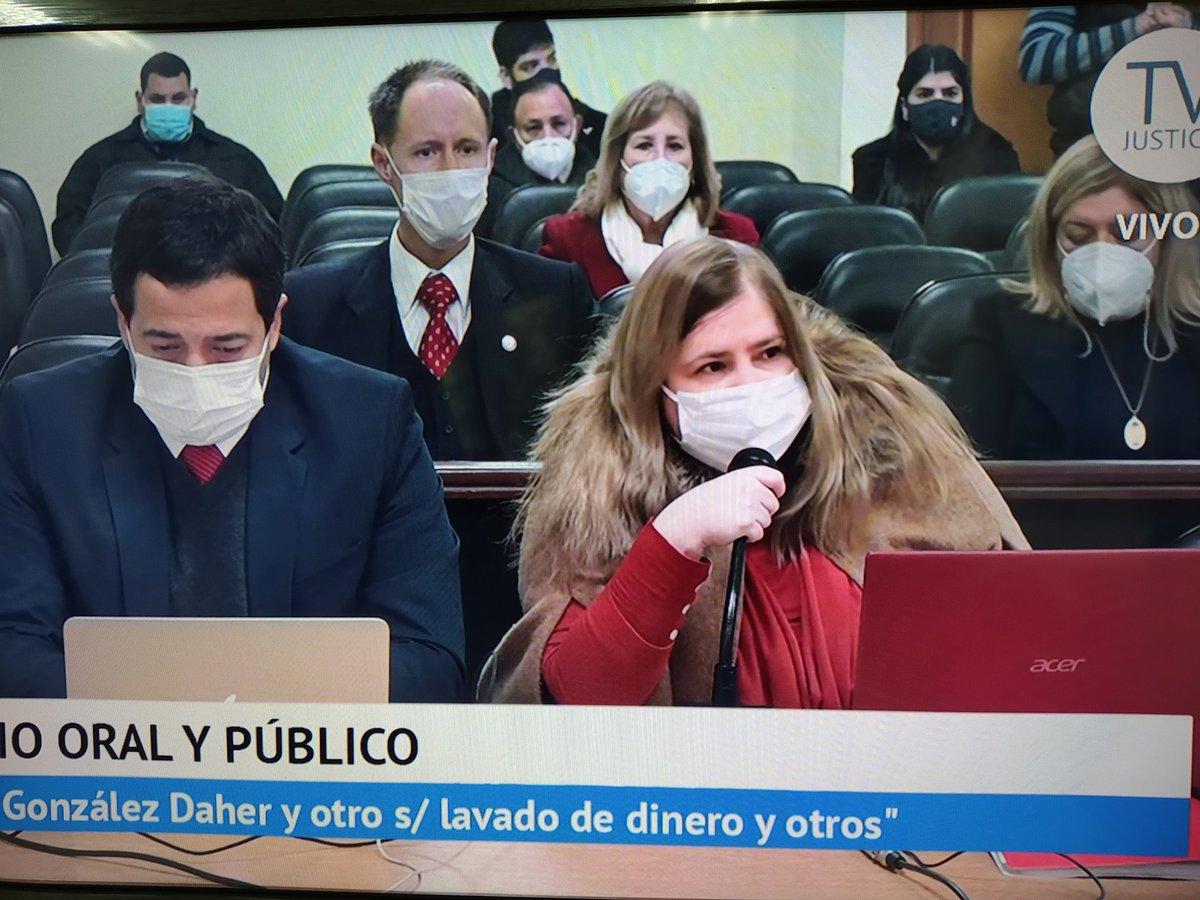 """Perla Silguero on Twitter: """"🔹Con la presencia de la fiscal general  @SandraQuinonezA y la fiscal adjunta Soledad Machuca, inicia los alegatos  finales en el juicio a Óscar González Daher y su hijo."""