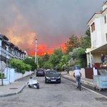 Image for the Tweet beginning: Manavgat'ta süren yangını büyük bir